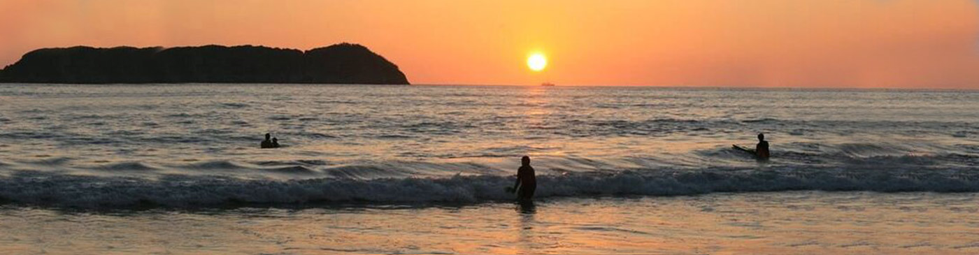 Sunset over Manuel Antonio Beach