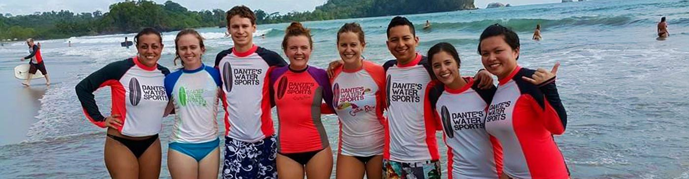 New surfers celebrate at Manuel Antonio beach