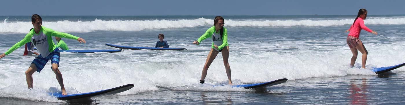 Learning to surf in Costa Rica at Dante's Watersports