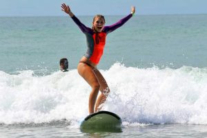 New surfer celebrates riding first wave in Costa Rica